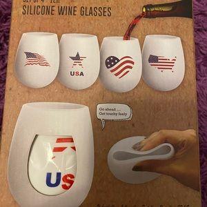USA Silicone Wine Glasses